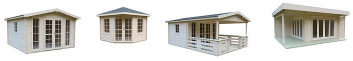 verschiedene Gartenhausmodelle