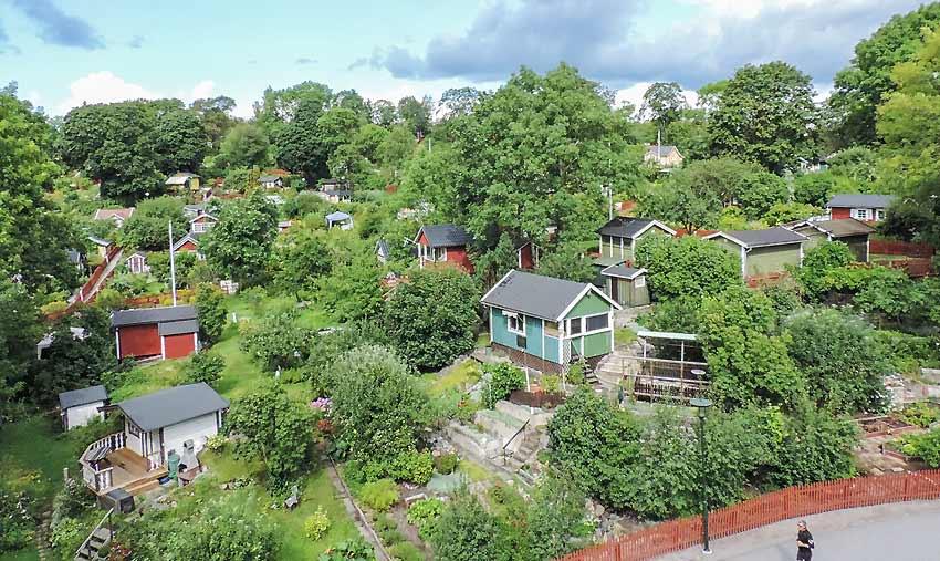 Schrebergärten in Kleingartenanlage