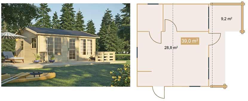 Gartenhaus AIDA mit mehreren Räumen