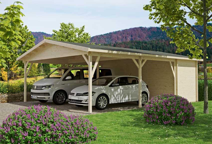 Doppe,carport mit Abstellraum Modell Odenwald