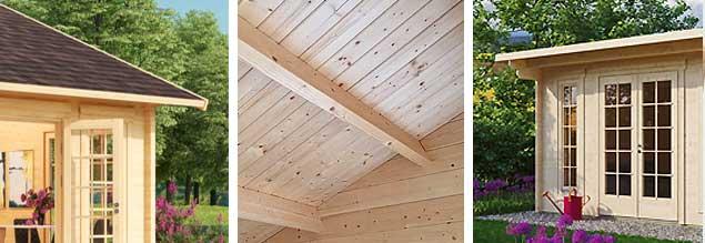 Dachqualitäten: Überstand, Dachbretter