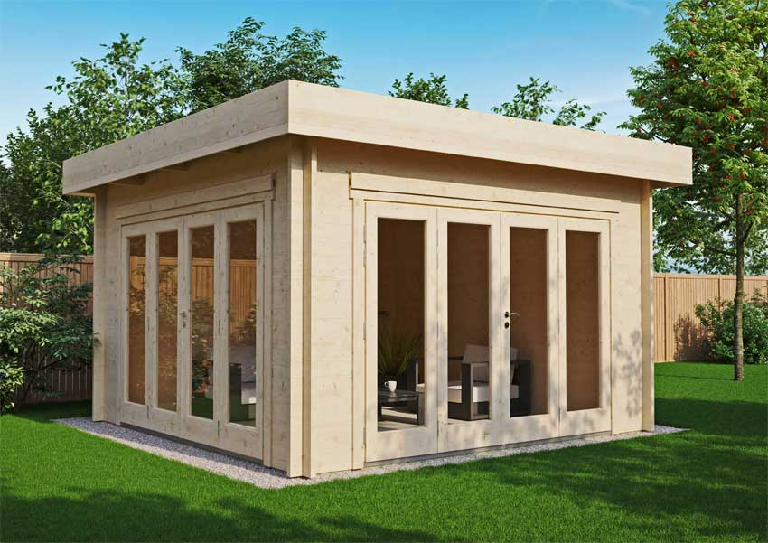 Gartenhaus Sandra mit Flachdach