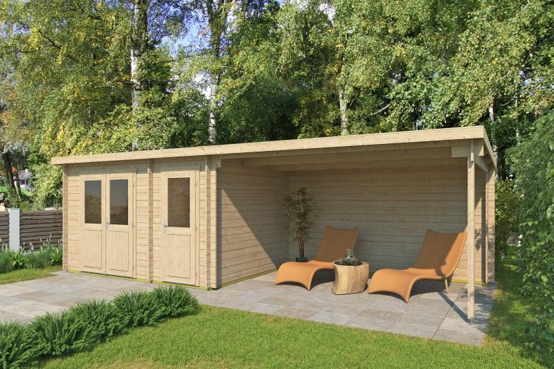 Pultdach Gartenhaus Modell Gent 28 D