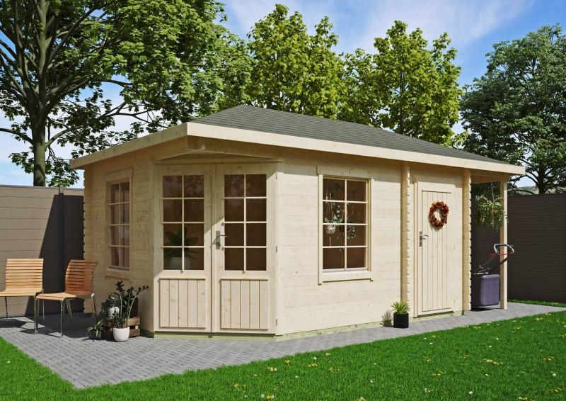5-Eck Gartenhaus Modell Isa 40 A