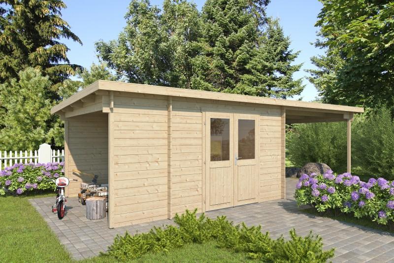 Pultdach Gartenhaus Modell Carla 28 B