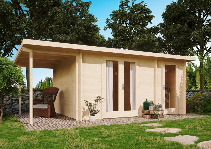 Pultdach Gartenhaus Modell Carin 44 C + SD
