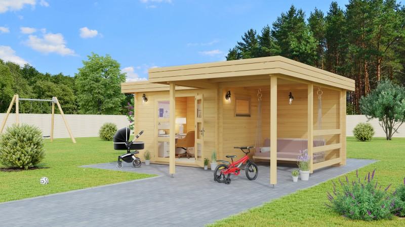 Flachdach Gartenhaus Modell Roxana 44