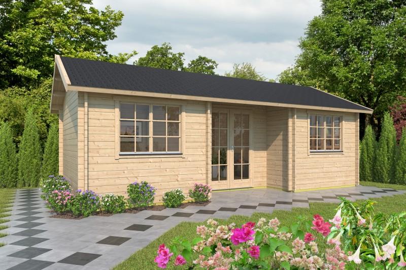 Satteldach Gartenhaus Modell Wallis 44