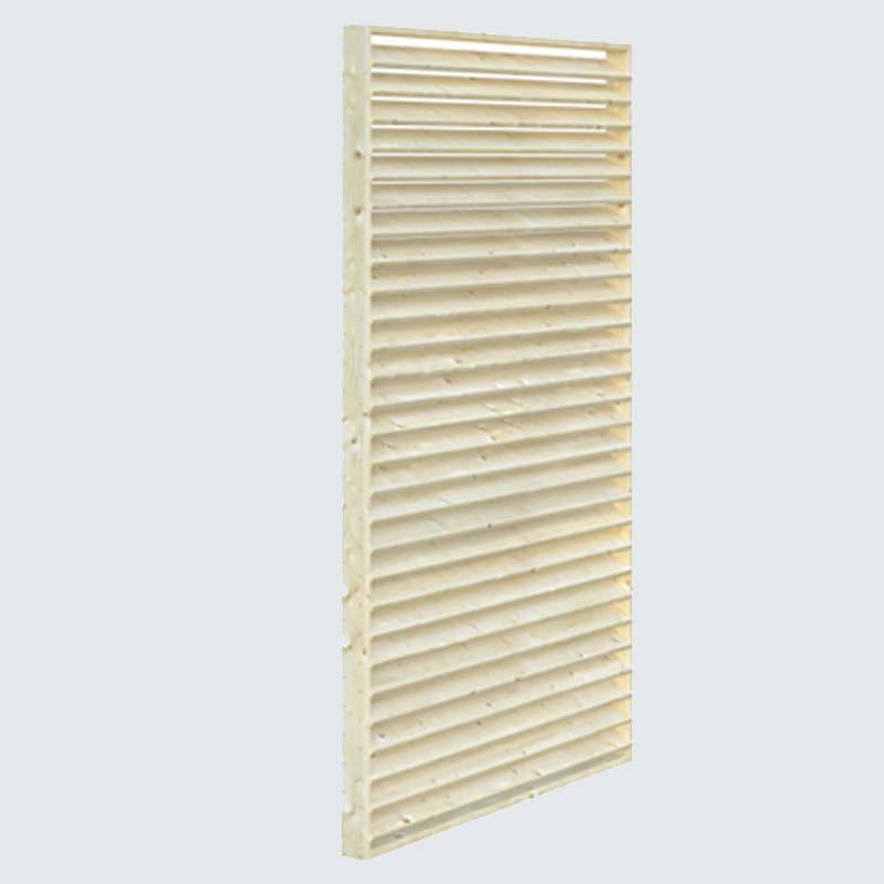Sichtschutzelement aus Massivholz
