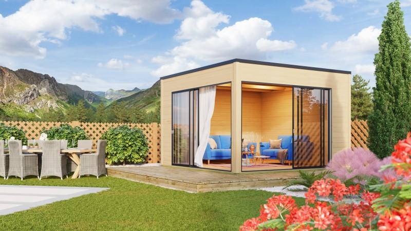 Kubus Gartenhaus Modell Q-BIC 70 B