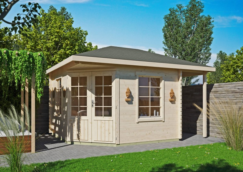 5 Eck Gartenhaus Modell Isa 40 C