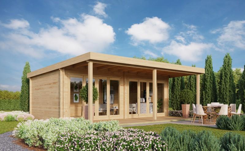 Gartenhaus Kevin 44 mit Vordach