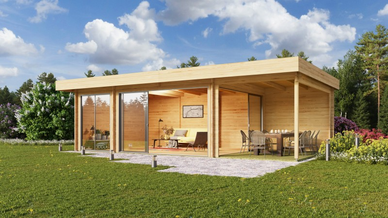 Gartenhaus Modell Alu Concept 70 O