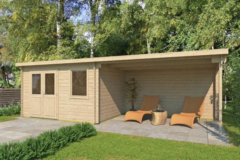 Pultdach Gartenhaus Modell Gent 28 C