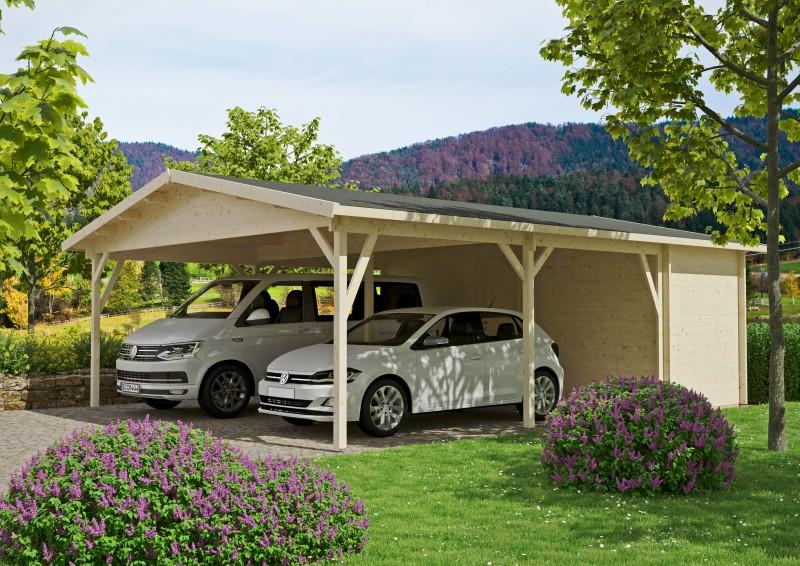 Doppel-Carport mit Abstellraum Modell Odenwald 70