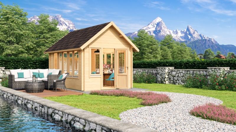 Satteldach Gartenhaus Modell Jura 44