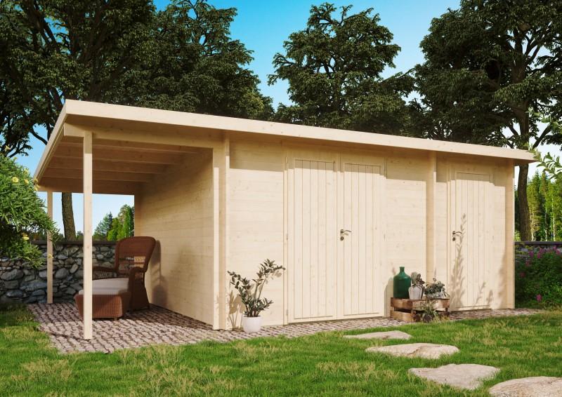Gartenhaus Modell Carin 40 D +SD