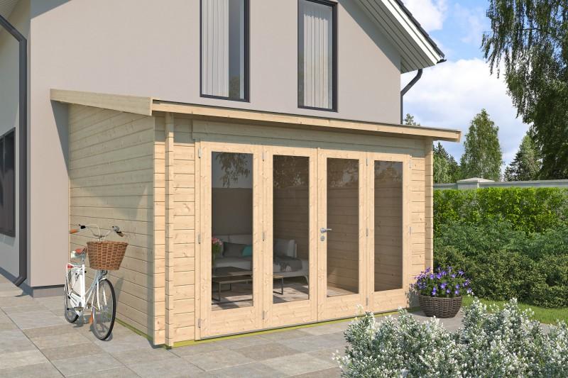 Anlehn Gartenhaus Modell Anbau Lounge 44 B