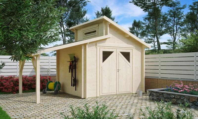 Gartenhaus Modell Varianta 44 A mit Schleppdach