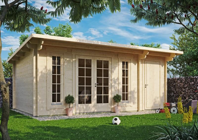 Pultdach Gartenhaus Modell Jacob-44-C mit Abstellraum