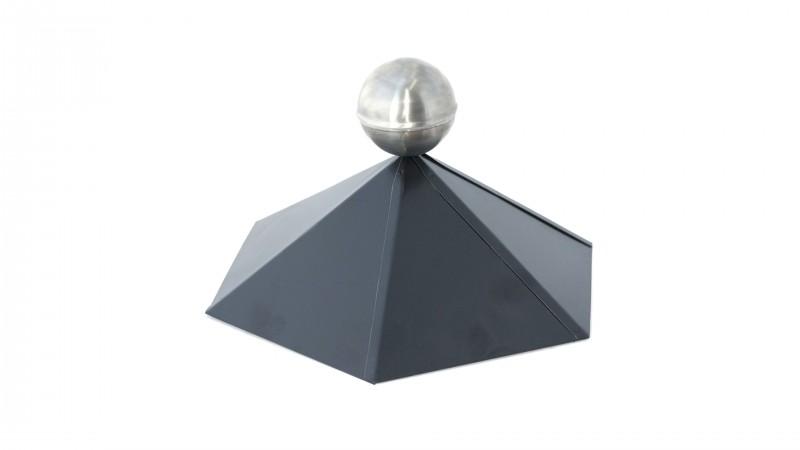 Dachhaube 6-Eckig mit Edelstahlkugel