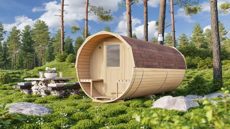 Fass Sauna Modell Fite