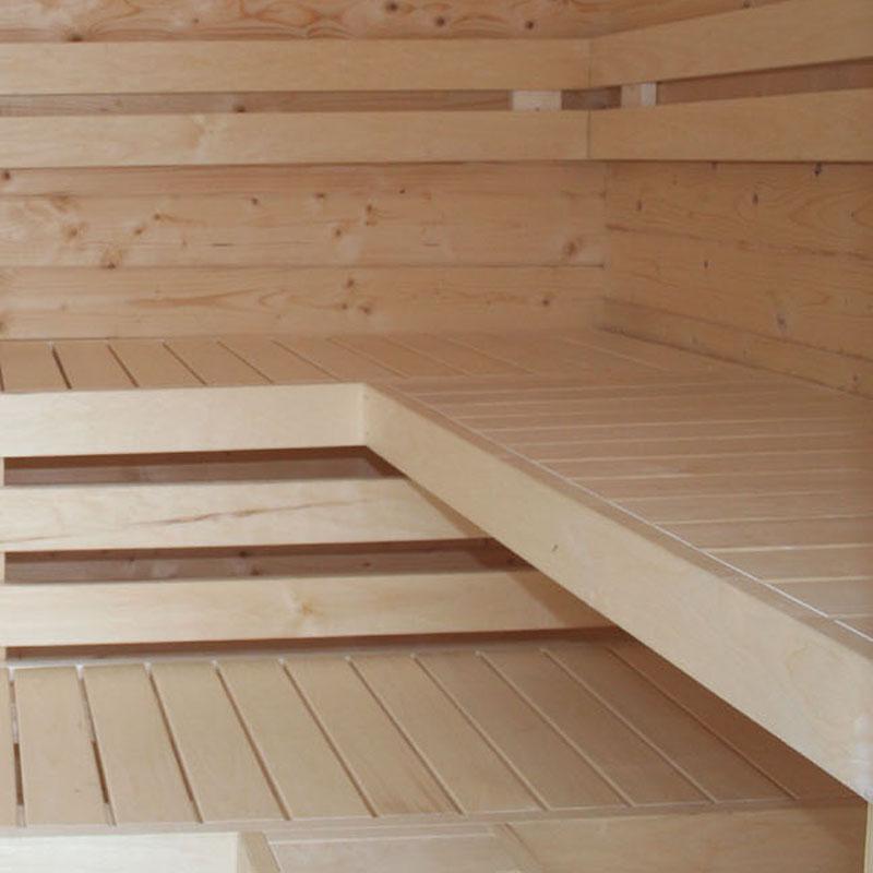 Exklusive Saunainneneinrichtung aus Espenholz