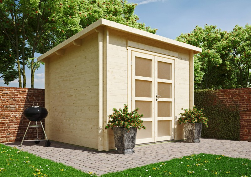 Pultdach Gartenhaus Modell Max 44 D