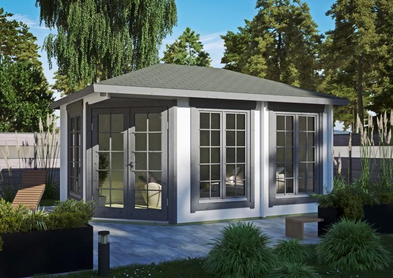 5 Eck Gartenhaus Modell Glasgow 44 C