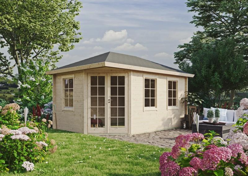 5 Eck Gartenhaus Modell Kiano 44 D