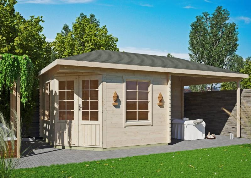 5 Eck Gartenhaus Modell Isa 40 D