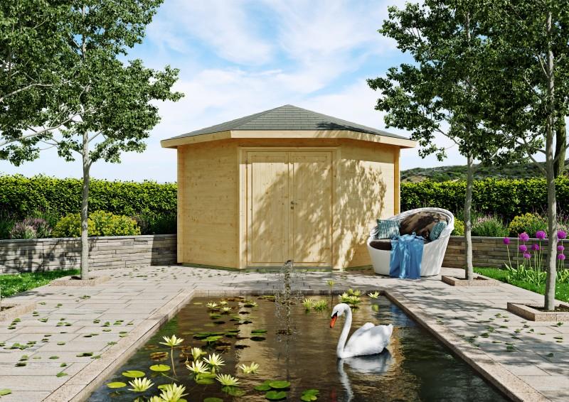 5 Eck Gartenhaus Modell Leon 40 A