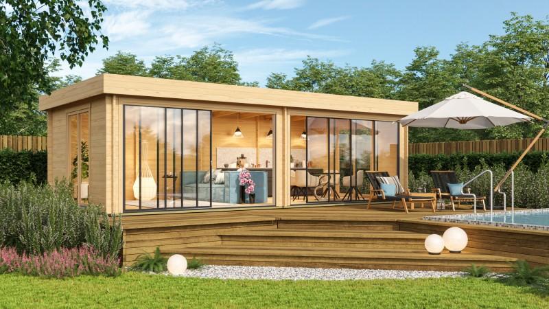 Gartenhaus Modell Alu Concept Lounge 70 B