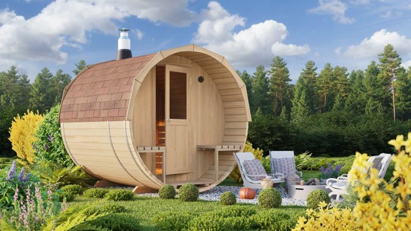 Fass Sauna Modell Alvar