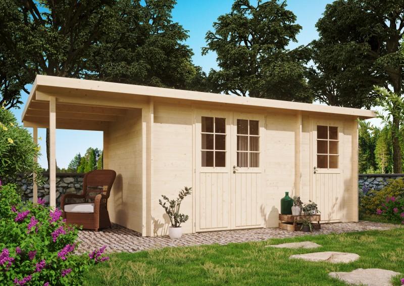 Gartenhaus Modell Carin 44 B +SD