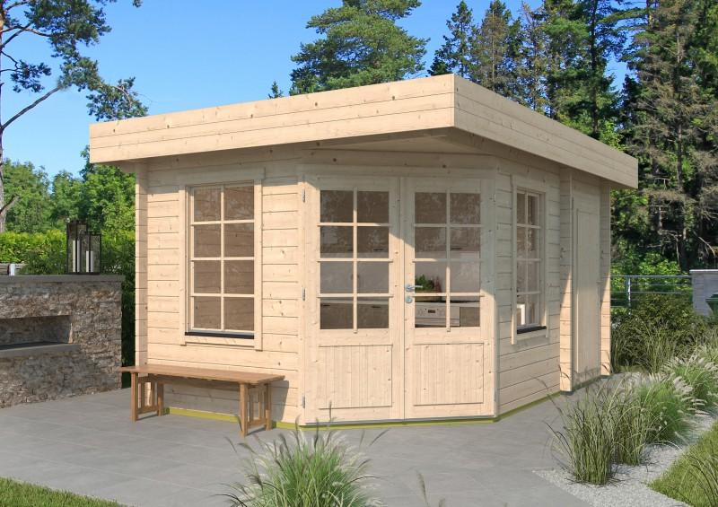 5 Eck Gartenhaus Modell Lena 44