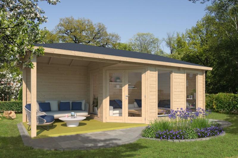 5 Eck Gartenhaus Modell Lisa 44 F Modern