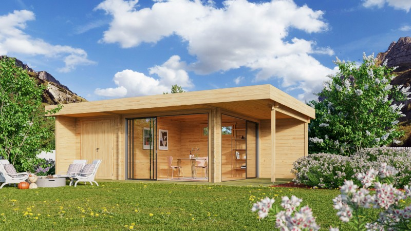 Gartenhaus Modell Alu Concept Relax 44 C