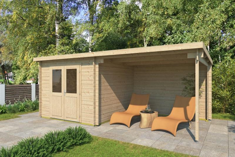 Pultdach Gartenhaus Modell Gent 28 A