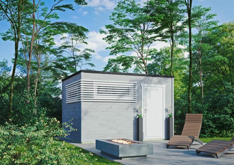Kubus Gartenhaus Modern 44 C