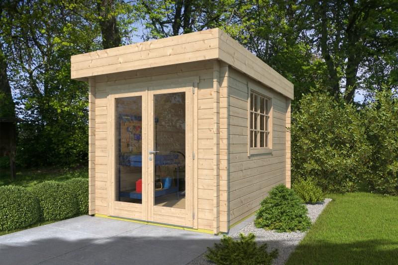 Flachdach Gartenhaus Modell Steve 44