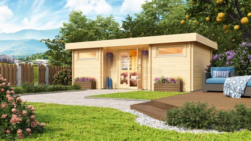 Flachdach Gartenhaus Modell Aargau 44