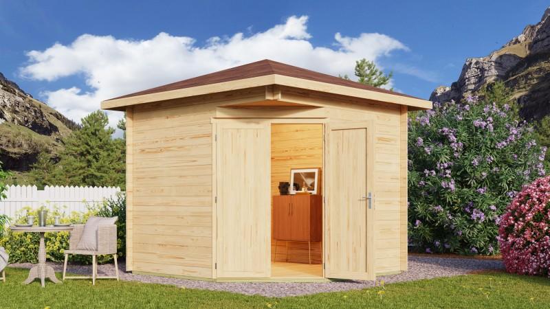 5 Eck Gartenhaus Modell Nelly 44 A