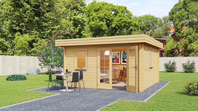 Flachdach Gartenhaus Modell Mario 44