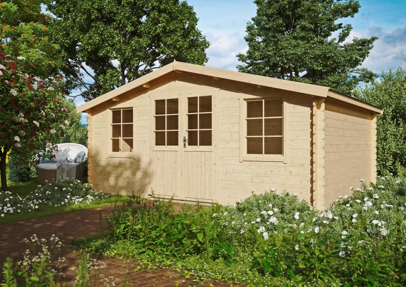 Satteldach Gartenhaus Modell Ria 28