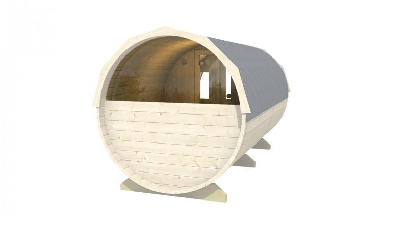 Panoramafenster für Saunafässer Ø2,2m