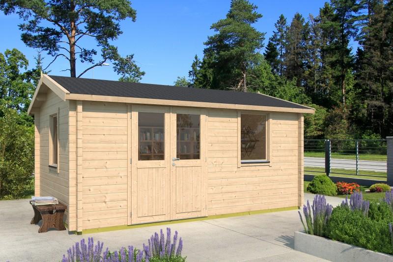 Satteldach Gartenhaus Modell Narvic 44 E