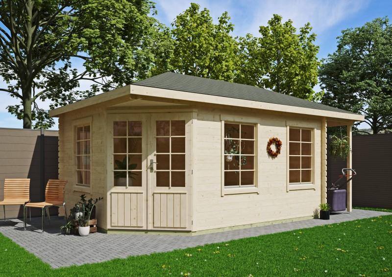 5-Eck Gartenhaus Modell Isa 40 B