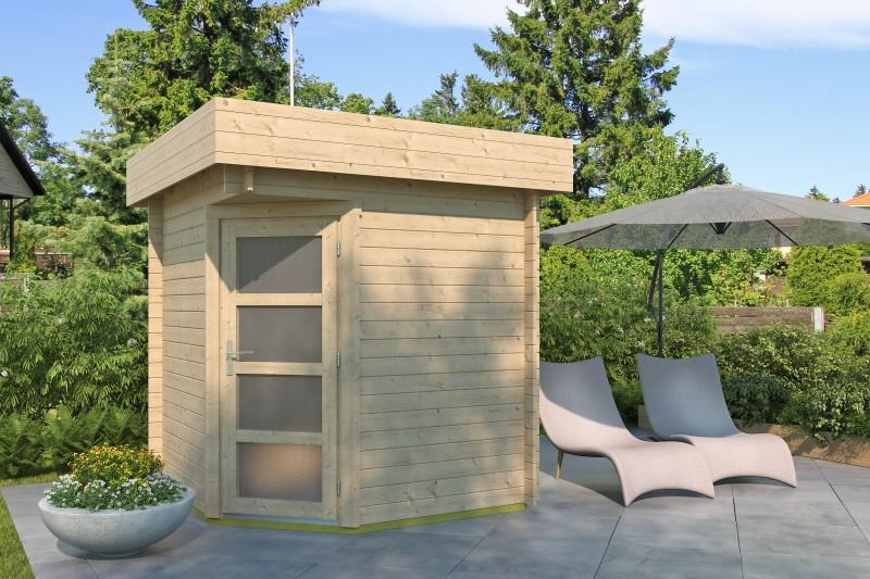 5-Eck Gartenhaus Modell Mona 28 A
