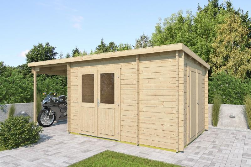Pultdach Gartenhaus Modell Hobe 28 B
